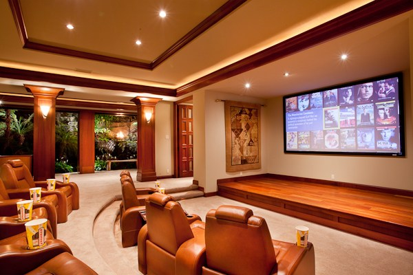Remarkable hawaii luxury estate phase 3 south 6 at for Luxury home theater rooms