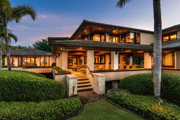 Kaua 39 i beachfront estate with over 400 feet of white sand for How much to build a house in hawaii