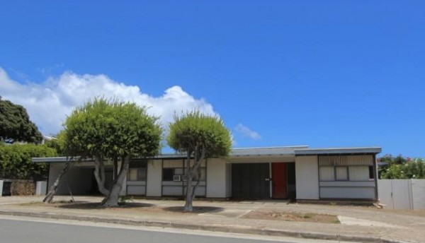 Mid century modern homes available in diamond head for Modern homes hawaii