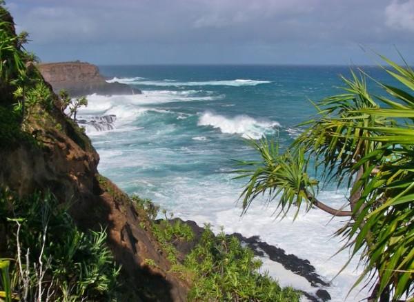 Big winter swells at Hoolawa Point, Haiku Maui HI
