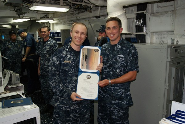 Nephew-in-law, re-enlistment, US Navy