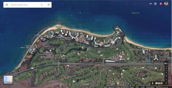 Kaanapali Beach Google Earth