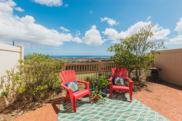 View from lanai of 92-1153 Panana St #1503