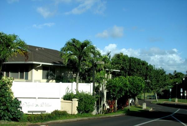 Napili Villas and the park