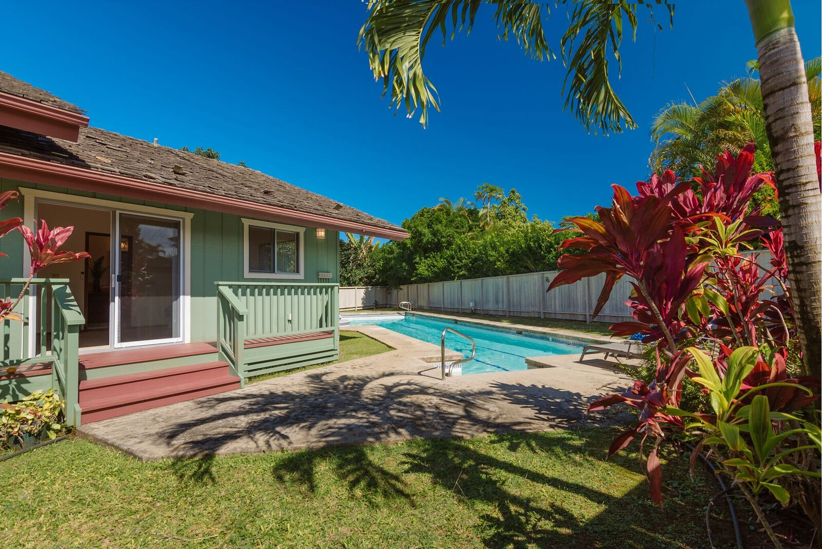 new listing clean single level princeville house with pool 12