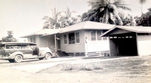 173 Waianae Place in the '50s.