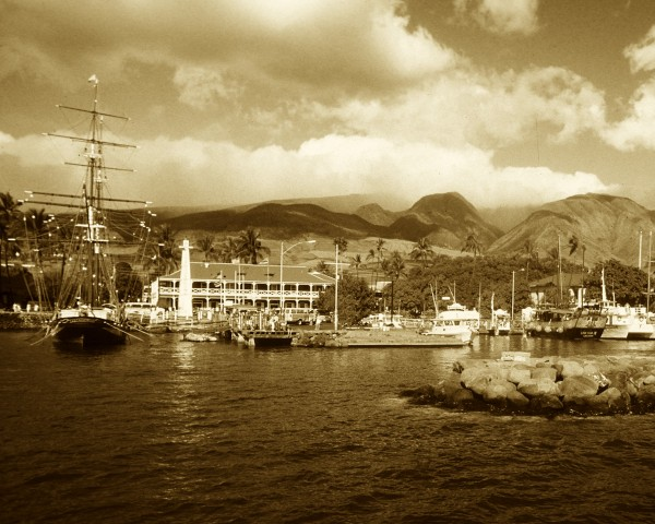 The Carthaginian II Whaling Ship in Lahaina Harbor