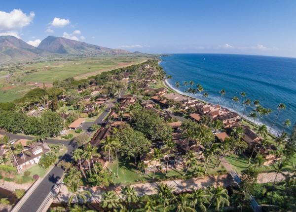 Puamana Aerial Coastline